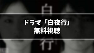 【無料動画】ドラマ『白夜行』見逃し動画を無料視聴する方法(1話〜最終回を全話フル配信)【今日の最新話も視聴OK】